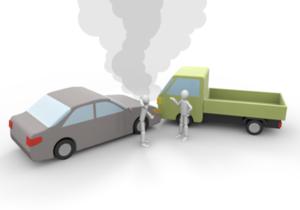 交通事故衝突のイラスト